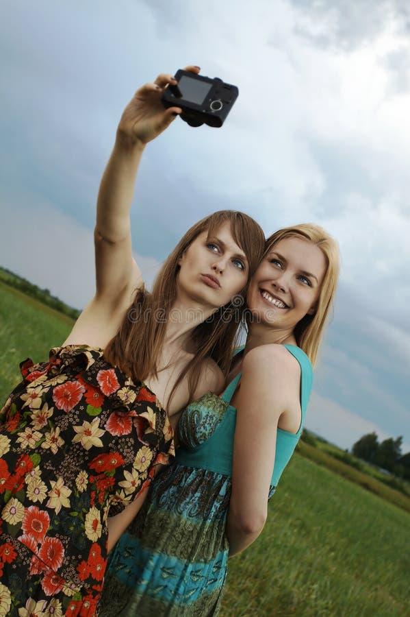девушки камеры сексуальные стоковая фотография