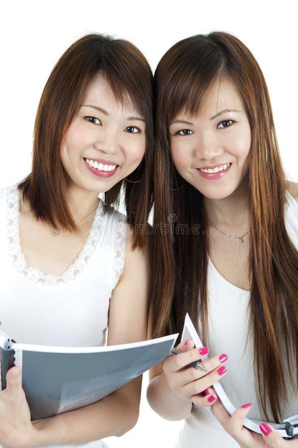Девушки коллежа стоковые изображения rf