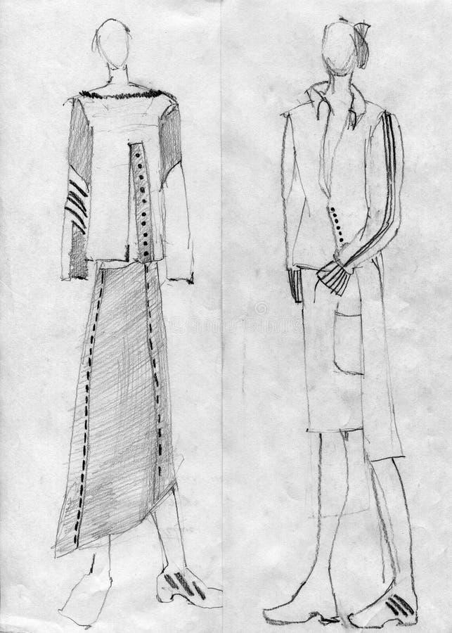Девушки к моделям, демонстрируют ткань стоковые изображения rf