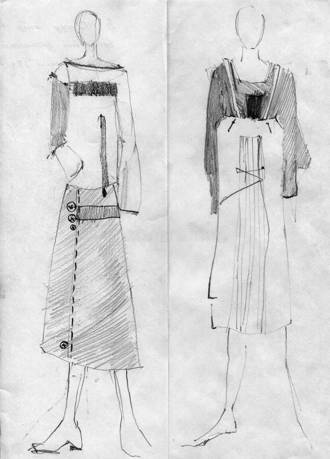 Девушки к моделям, демонстрируют ткань стоковая фотография