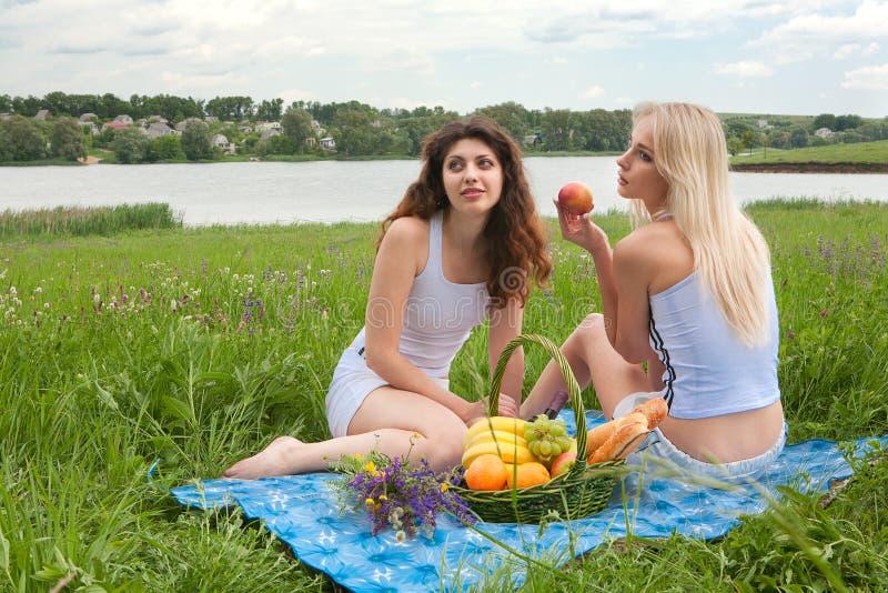 Девушки пикника 2 стоковые изображения
