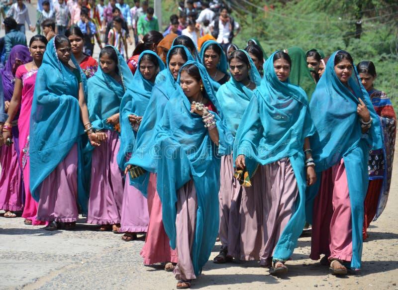 Девушки племени Bhil стоковая фотография