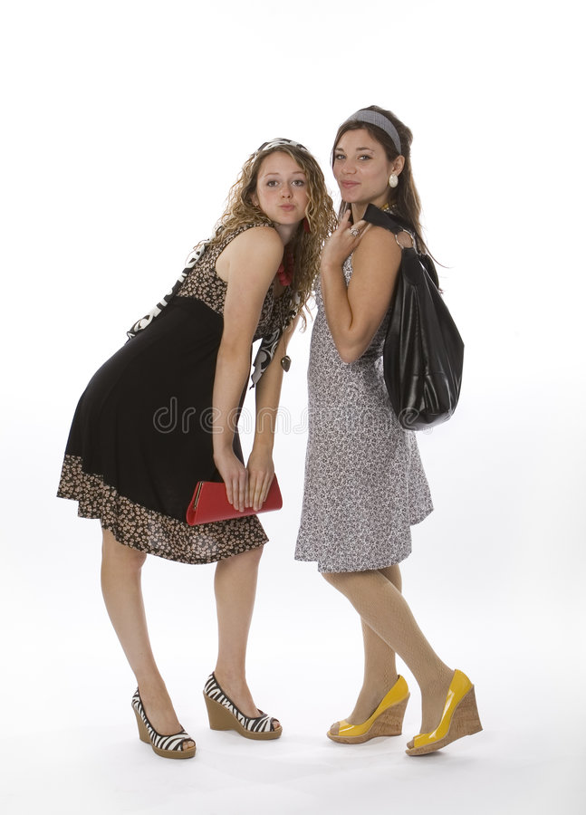 девушки способа подростковые стоковое фото rf