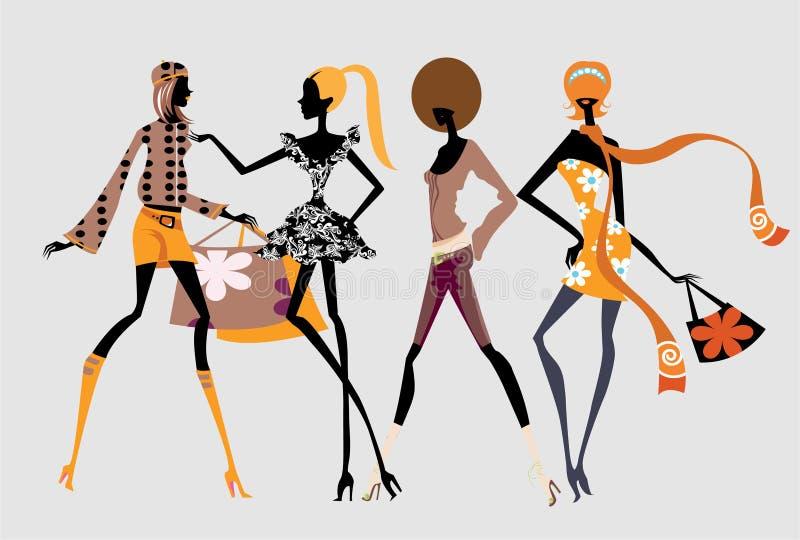 Download девушки способа иллюстрация штока. иллюстрации насчитывающей худенько - 4601967