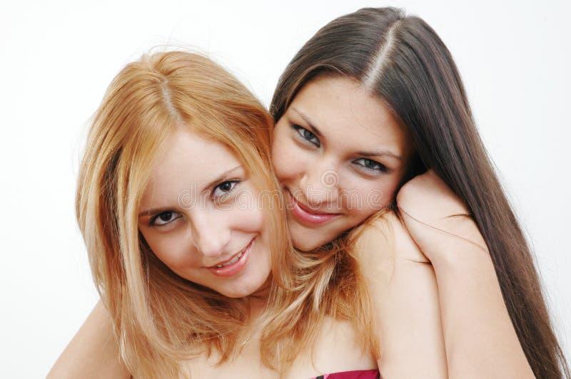 девушки счастливые стоковое изображение rf