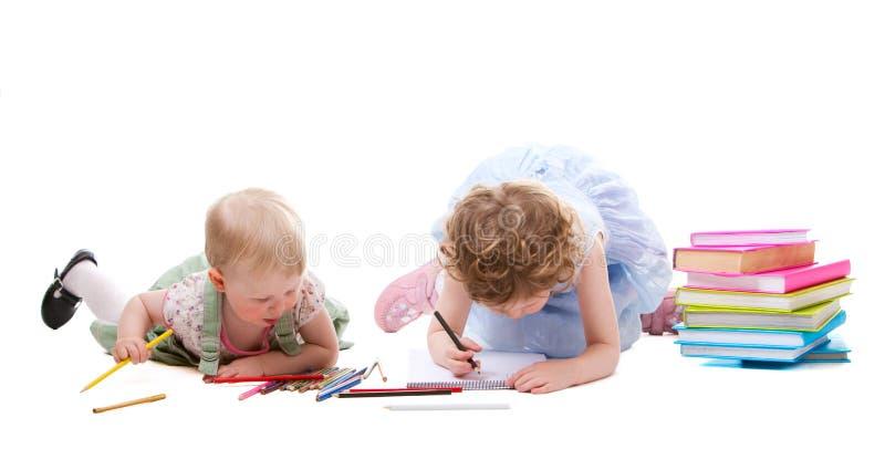 девушки чертежа стоковое изображение rf