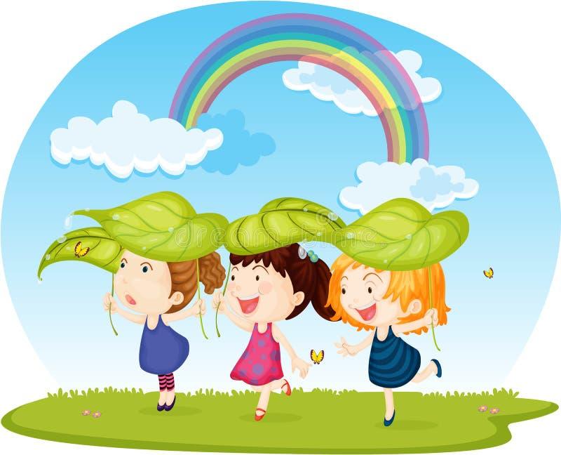 девушки 3 иллюстрация штока