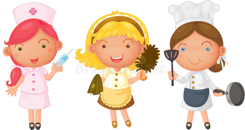 девушки 3 иллюстрация вектора