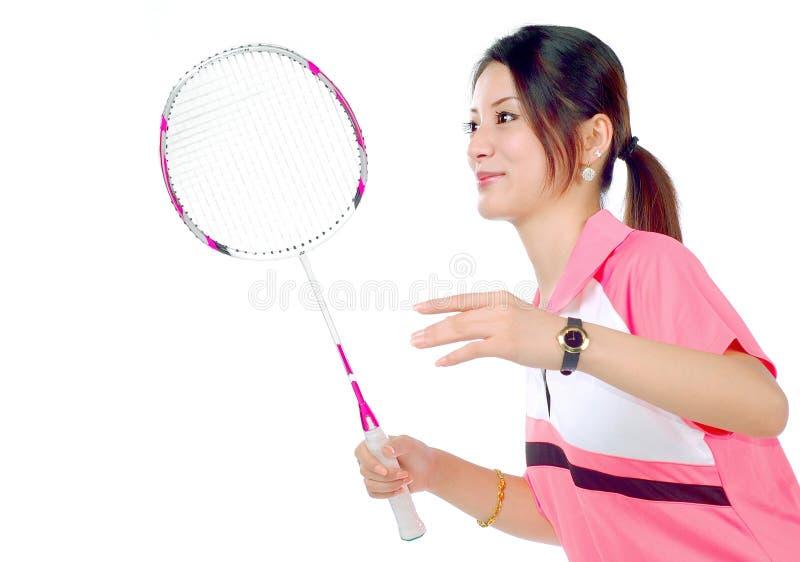 девушки badminton стоковое изображение rf