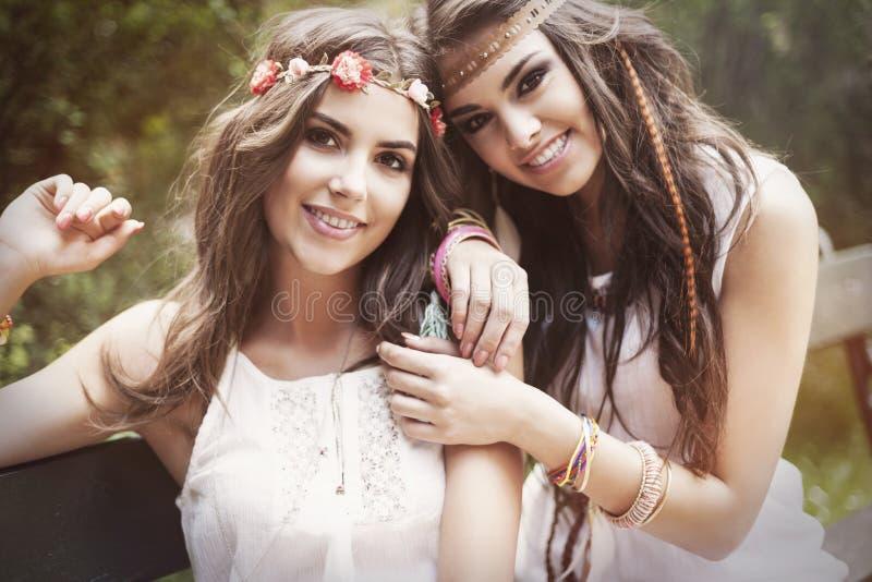 Девушки Boho стоковые фотографии rf