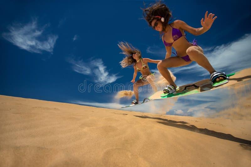 Девушки Kitesurf стоковая фотография