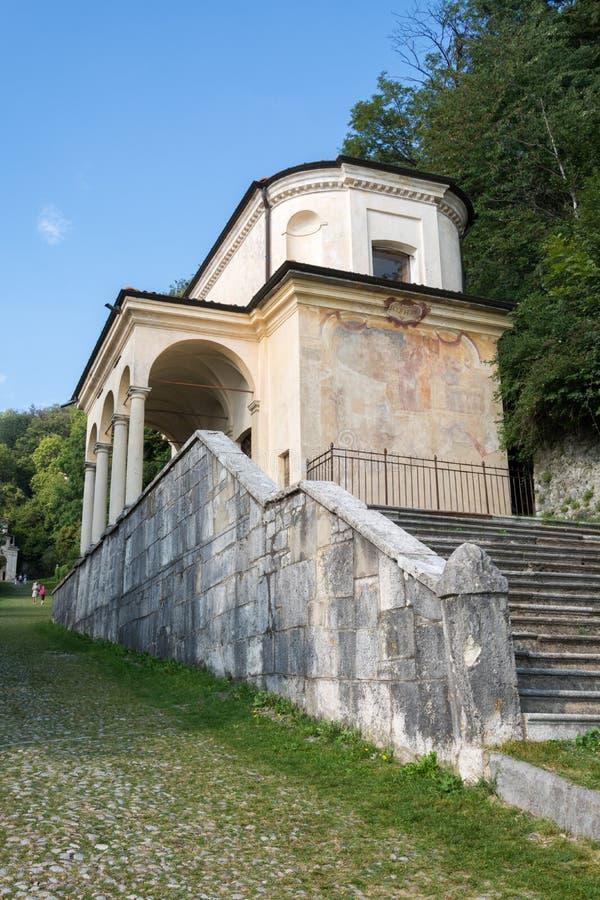 Девятая часовня на di Варезе Sacro Monte Италия стоковые изображения