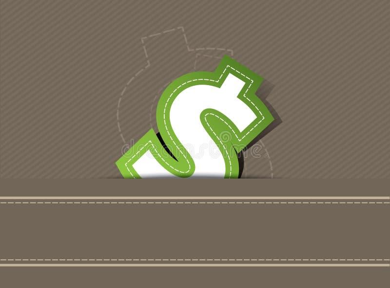 Дег доллары конструкции предпосылки бесплатная иллюстрация