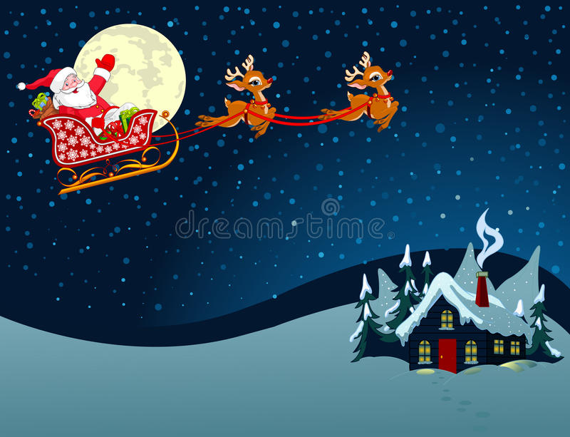 Дед Мороз в скелетоне бесплатная иллюстрация