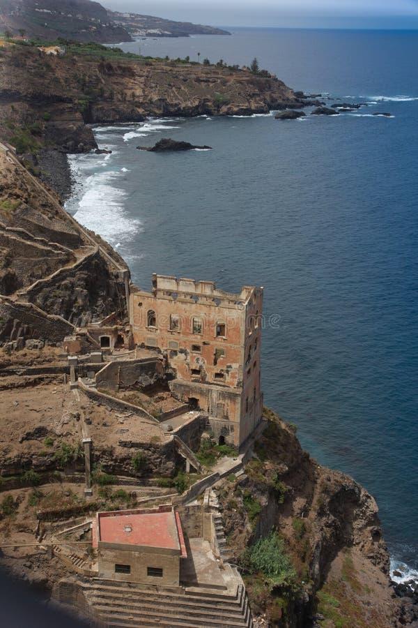 Дезертированная гостиница над побережьем Тенерифе стоковое фото rf