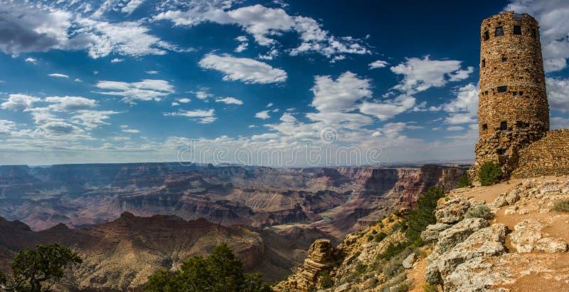 Дезертируйте каньон сторожевой башни взгляда грандиозный стоковое изображение rf