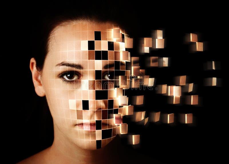 Дезинтегрировать стороны женщины стоковые фото