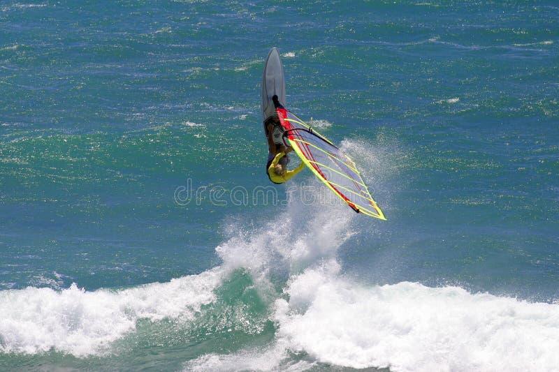 действие весьма Гавайские островы windsurfing стоковое изображение rf