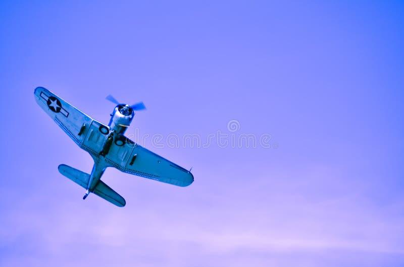 Действие в небе во время airshow стоковое изображение rf