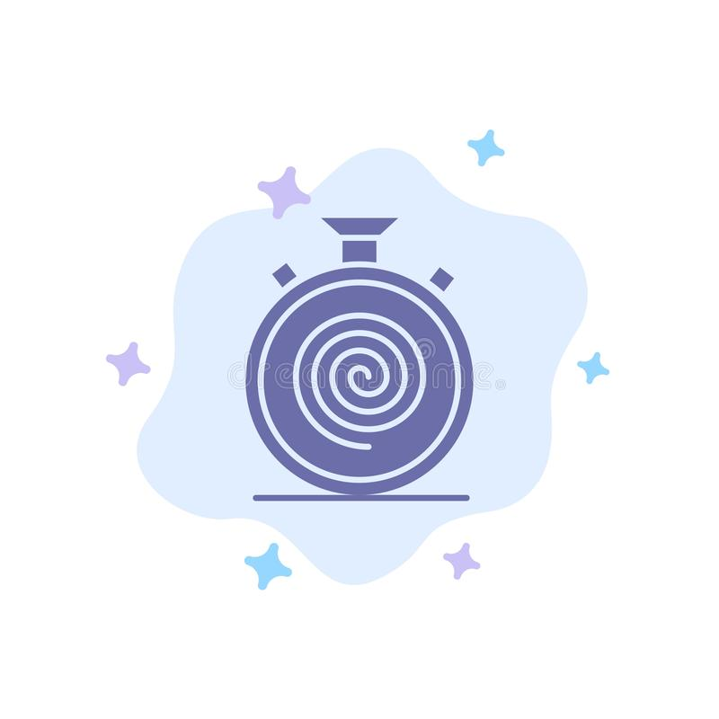 Действие, цикл, подача, безостановочный пробег, медленный голубой значок на абстрактной предпосылке облака бесплатная иллюстрация