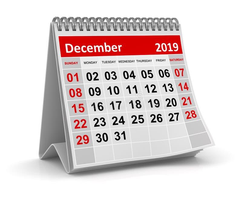 Декабрь 2019 бесплатная иллюстрация