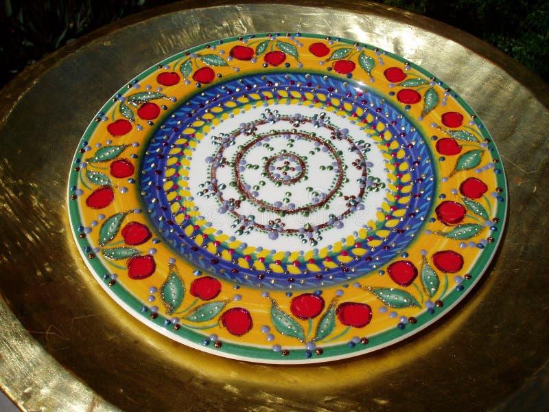 Декоративная античная плита стоковая фотография