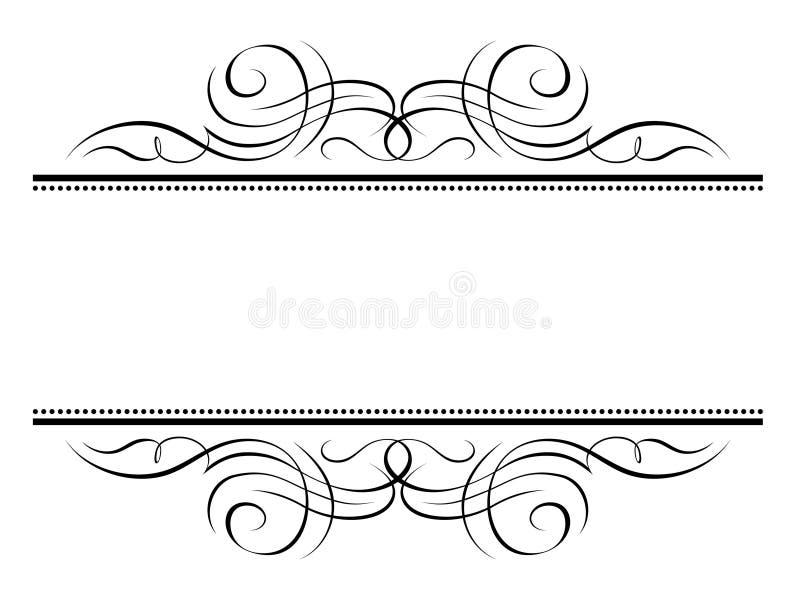 декоративная виньетка penmanship рамки иллюстрация вектора