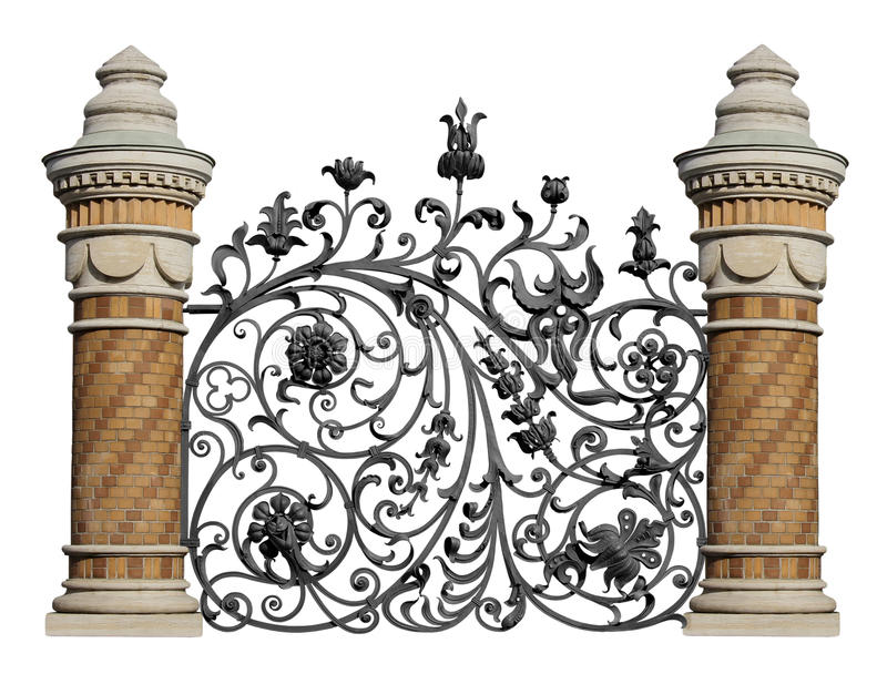 декоративная выкованная решетка стоковое фото rf