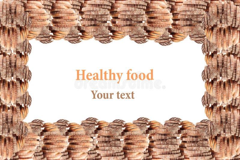 Декоративная выпушка куч черного хлеба рож и белого хлеба на белой предпосылке изолировано Рамка Искусство концепции Еда Backgr стоковые изображения