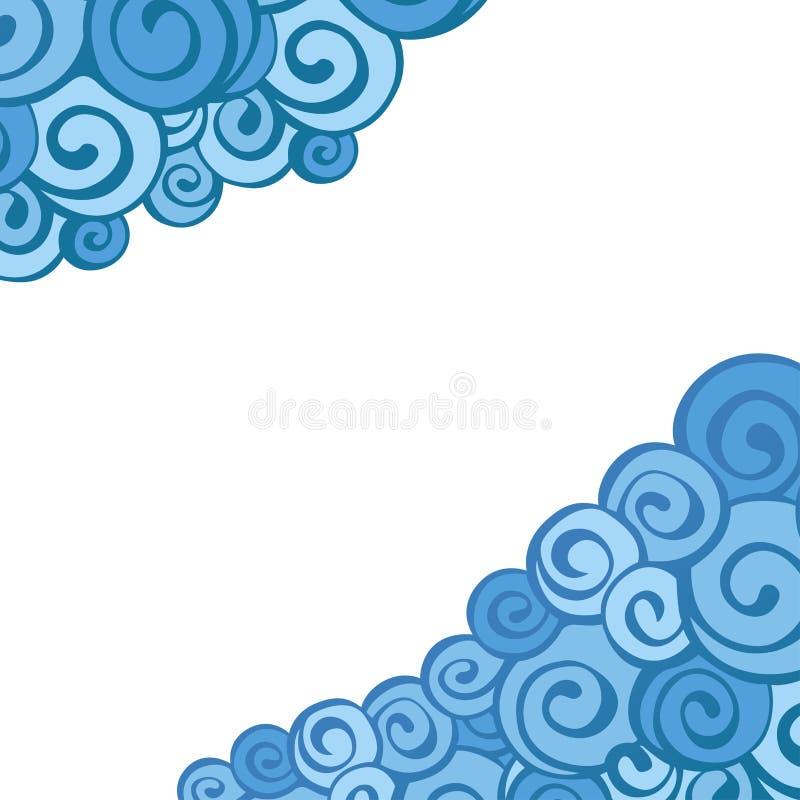 Декоративная граница элемента Абстрактная карточка приглашения стоковое изображение rf