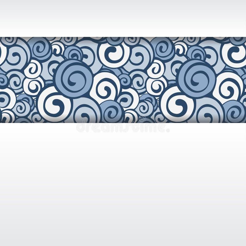 Декоративная граница элемента Абстрактная карточка приглашения стоковое фото