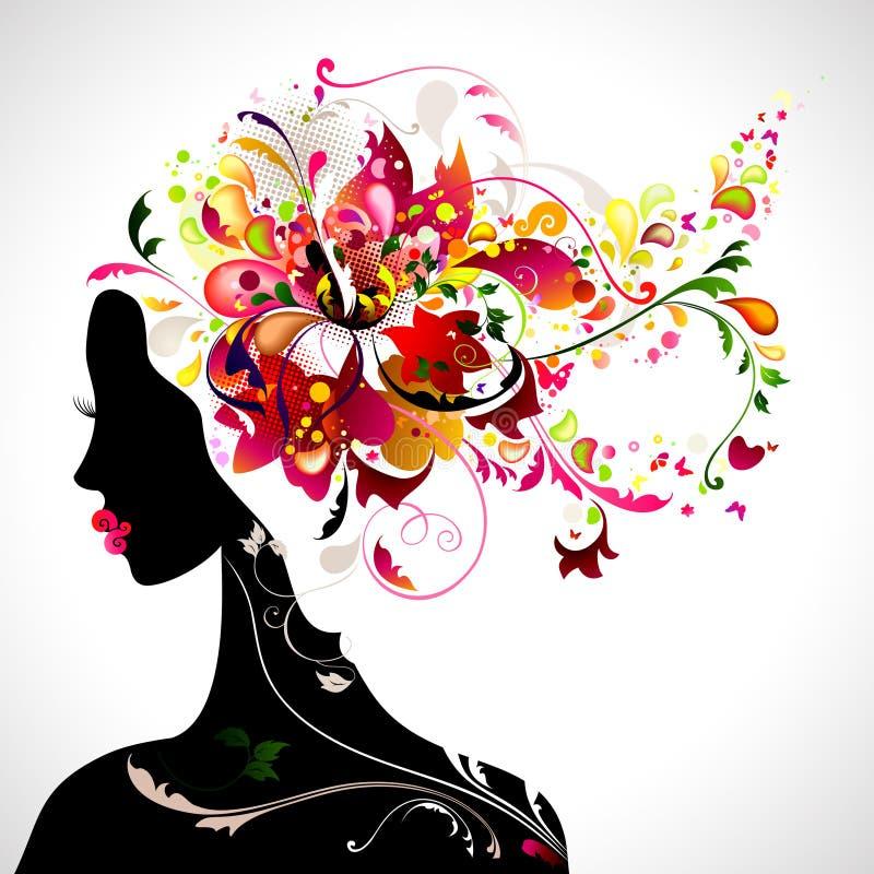 декоративная девушка иллюстрация штока