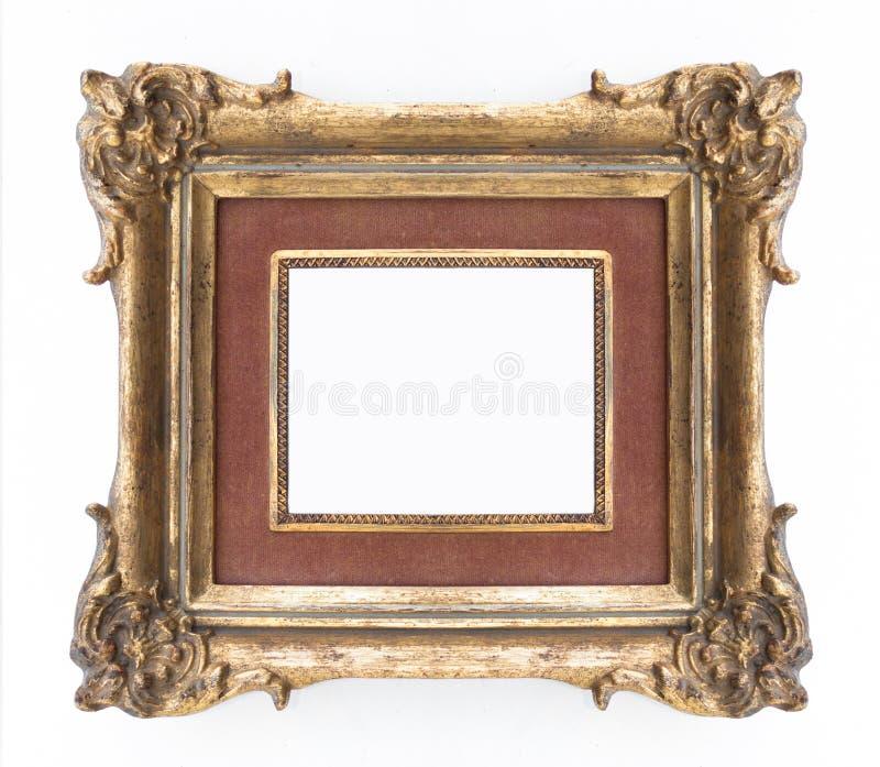 Декоративная золотая рамка - богато украшенная рамка, классическая стоковые фотографии rf
