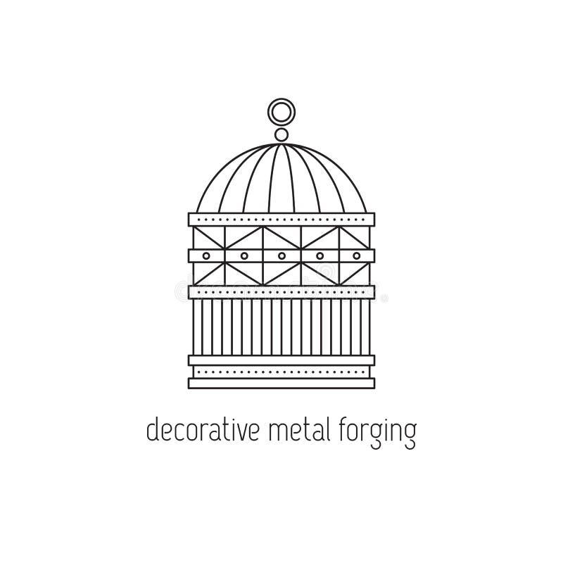 Декоративная линия значок вковки металла иллюстрация штока