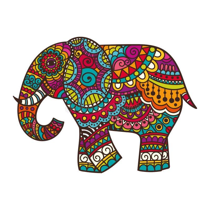 Декоративная иллюстрация слона иллюстрация штока