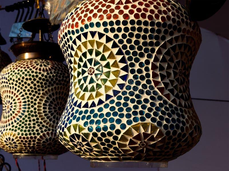 Декоративная керамическая фонарик-Индия стоковые фотографии rf