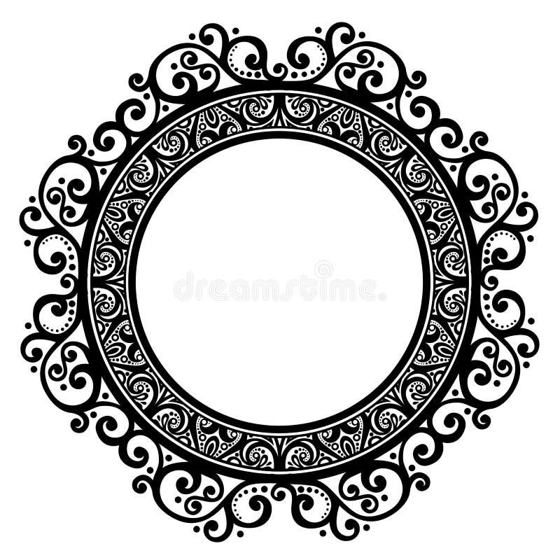 Декоративная круглая рамка бесплатная иллюстрация
