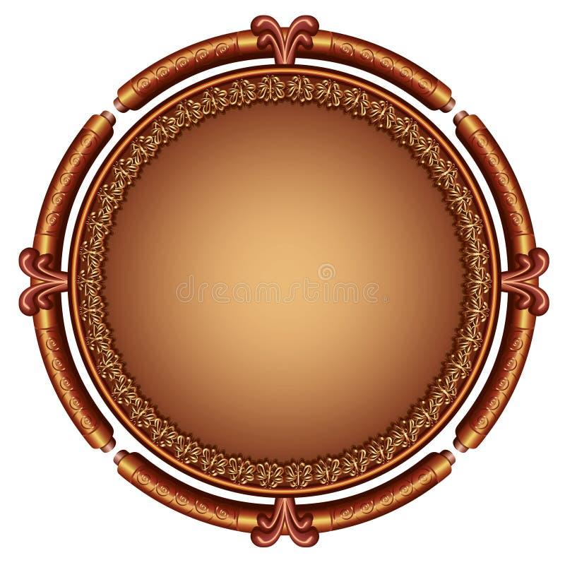 Декоративная орнаментальная рамка иллюстрация вектора