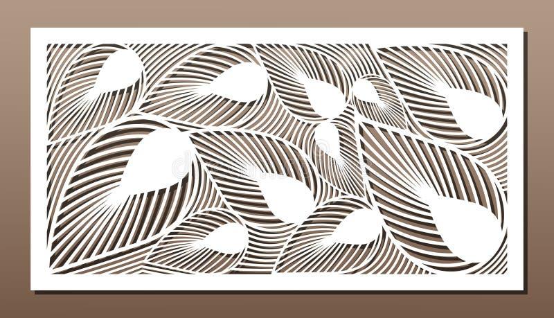Декоративная панель для вырезывания лазера Дизайн силуэта искусства 1:2 коэффициента иллюстрация штока