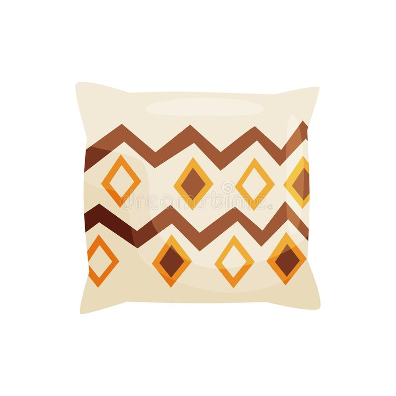 Декоративная подушка на белой предпосылке r иллюстрация штока