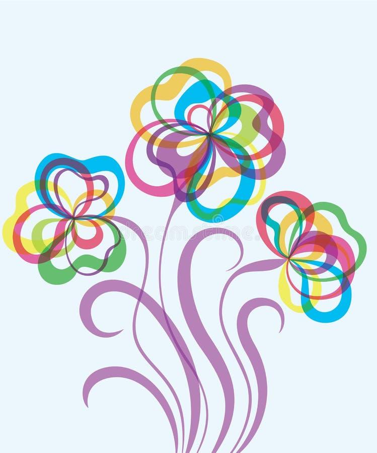 Декоративная предпосылка EPS10 с абстрактными цветками иллюстрация вектора