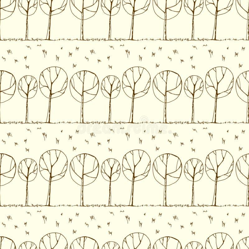 Декоративная предпосылка деревьев бесплатная иллюстрация