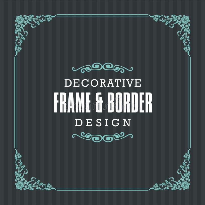 Декоративная рамка, граница с орнаментальной линией стилем иллюстрация вектора