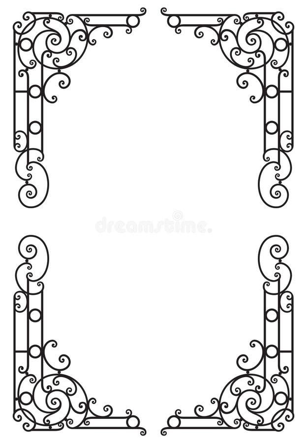 Декоративная рамка награды вектор изображения иллюстрации элемента конструкции иллюстрация штока