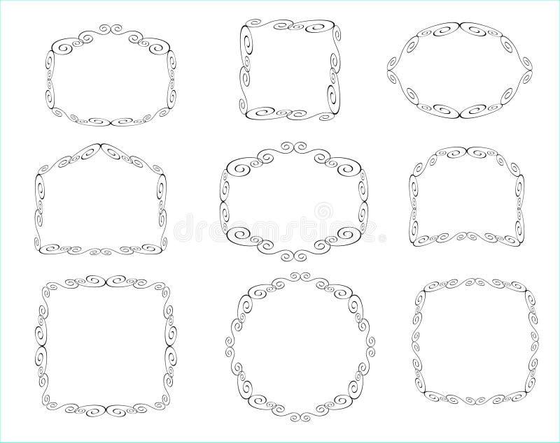 Декоративная рамка с абстрактными цветками иллюстрация вектора