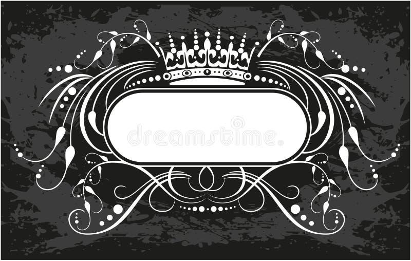 Декоративная рамка с кроной иллюстрация штока