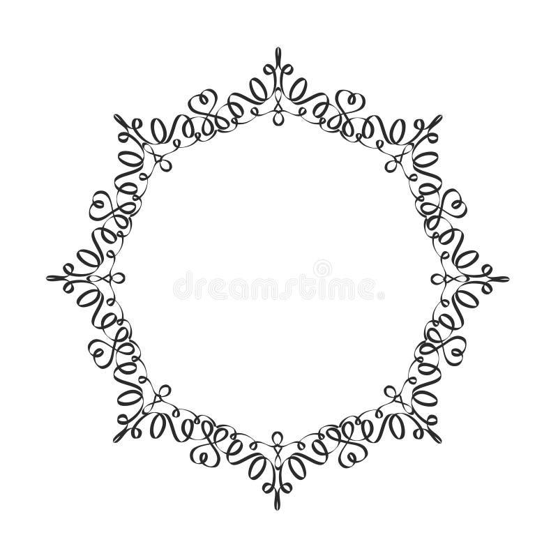 Декоративная рамка Элегантный элемент вектора для дизайна в восточном s иллюстрация вектора