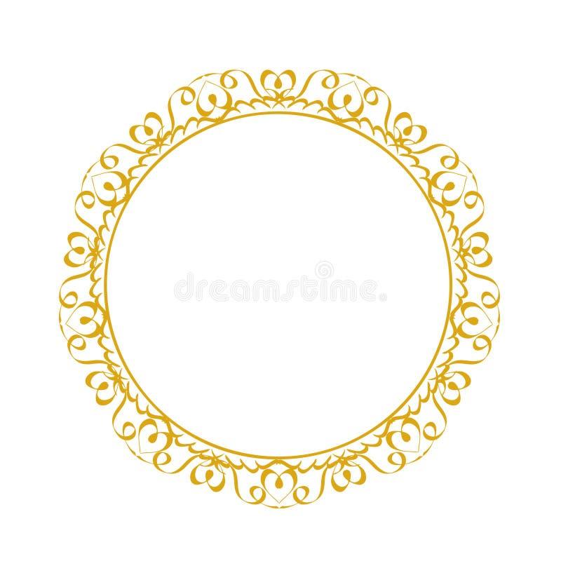 Декоративная рамка Элегантный элемент вектора для дизайна в восточном s иллюстрация штока