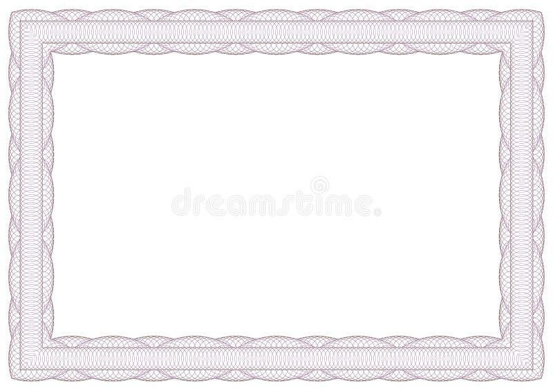 Декоративная рамка guilloche бесплатная иллюстрация