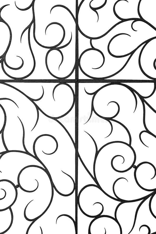 Декоративная решетка ковки чугуна стоковые изображения rf